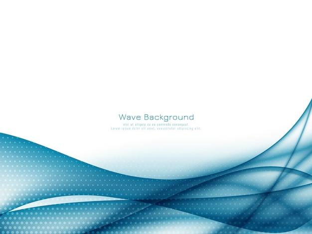 Abstrakter eleganter blauer wellenhintergrundvektor