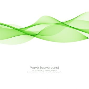Abstrakter eleganter hintergrund der grünen welle