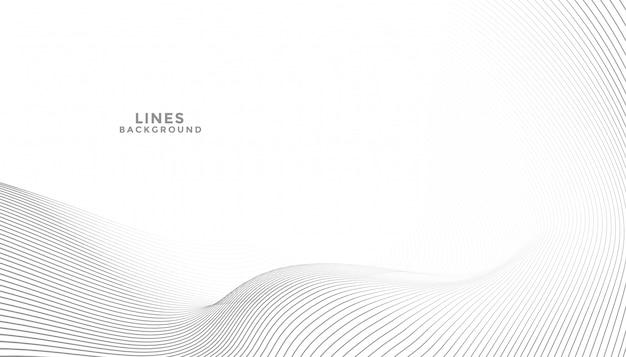 Abstrakter eleganter hintergrund mit fließender linienwelle