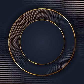 Abstrakter eleganter hintergrund mit goldenem punkt