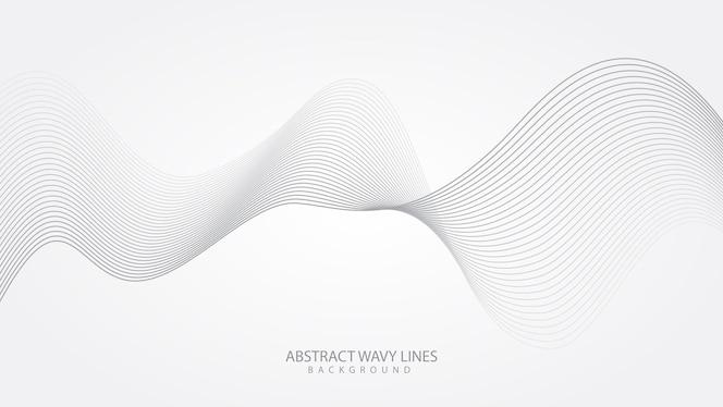 abstrakter eleganter weißer hintergrund mit fließenden linienwellen