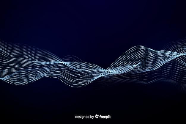 Abstrakter entzerrerpartikel-wellenhintergrund
