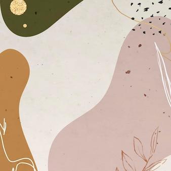 Abstrakter erdton memphis gemusterter hintergrund