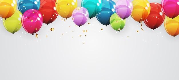 Abstrakter feiertagshintergrund mit luftballons