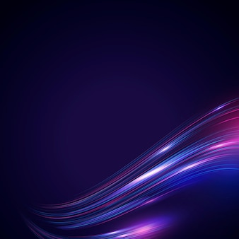 Abstrakter fließender neonwellenhintergrund