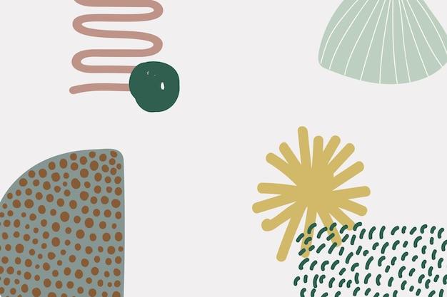 Abstrakter floraler memphis-hintergrund in grüner farbe