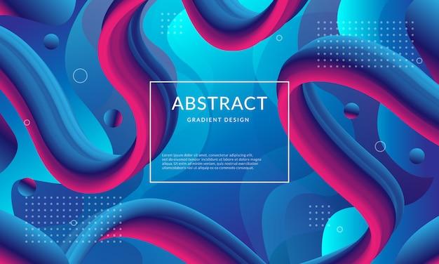 Abstrakter flüssiger blauer und violetter farbverlauf