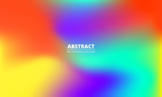 Abstrakter flüssiger bunter regenbogengradientenhintergrund. helle mehrfarbige holographische kreative minimalistische textur.