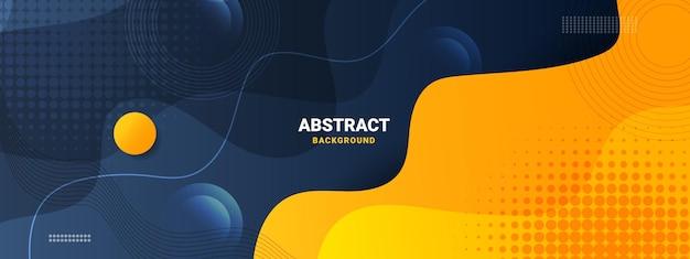 Abstrakter flüssiger farbhintergrund mit flüssigem gradientenstil Premium Vektoren