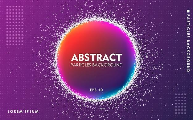 Abstrakter flüssiger farbpartikelhintergrund