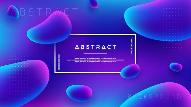 Abstrakter flüssiger flüssiger vektorhintergrund.