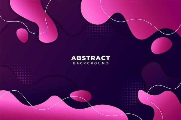 Abstrakter flüssiger formhintergrund dynamischer gewellter weicher rosa farbverlauf