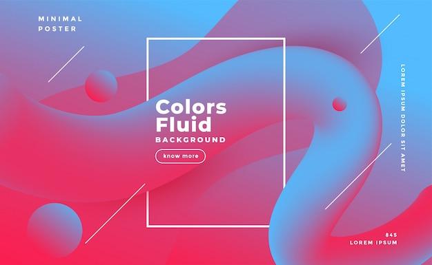 Abstrakter flüssiger formhintergrund in den duotone farben