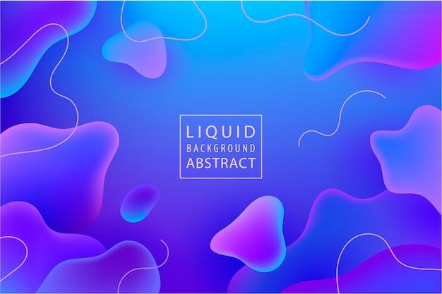 Abstrakter flüssigkeitsflusshintergrund. flüssigkeitsgradient formt zusammensetzung. futuristisches plakat, landingpage, illustration. blaues, lila plakat