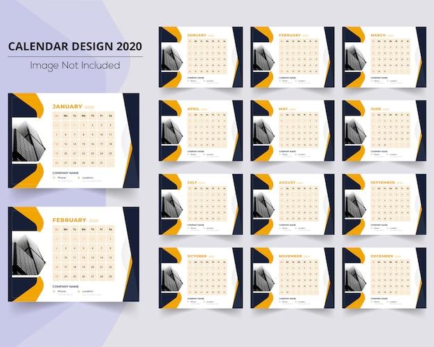 Abstrakter formkalender 2020