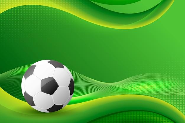 Abstrakter fußballhintergrund mit farbverlauf
