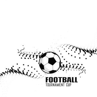 Abstrakter Fußballhintergrund mit schwarzen Partikeln