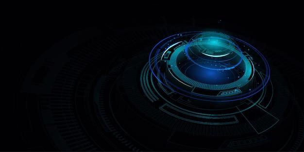 Abstrakter futuristischer blauer fahnenhintergrund