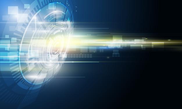 Abstrakter futuristischer digitaltechnikhintergrund