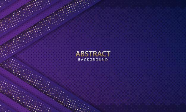 Abstrakter futuristischer dunkelblauer hintergrund mit funkeln. 3d-hintergrund. realistische vektorillustration.