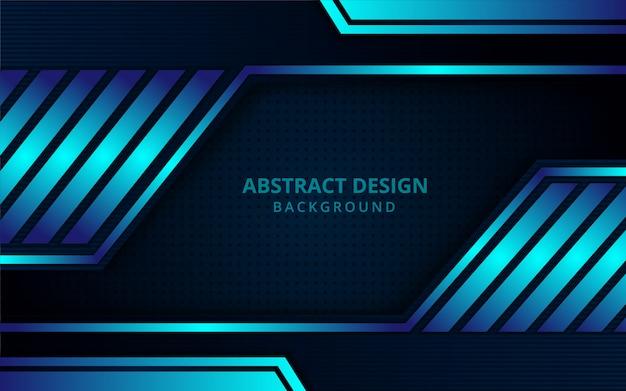 Abstrakter futuristischer geometrischer blauer hintergrund