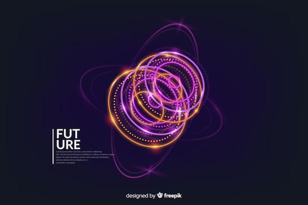 Abstrakter futuristischer glühender hologrammhintergrund