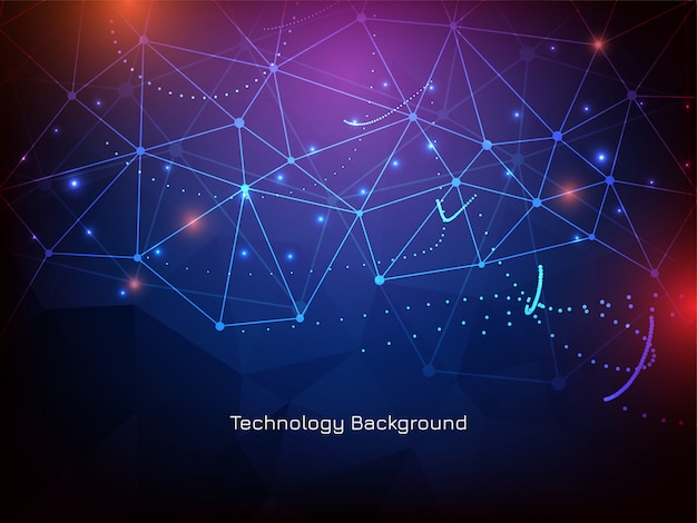 Abstrakter futuristischer glühender technologiehintergrund