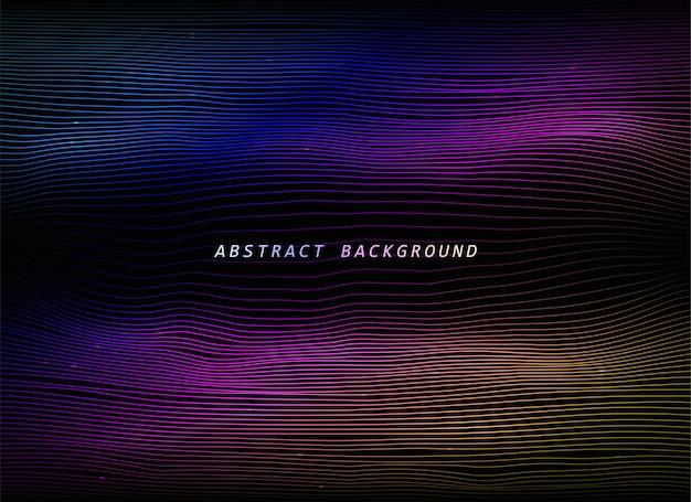 Abstrakter futuristischer hintergrund im cyberpunk-stil.