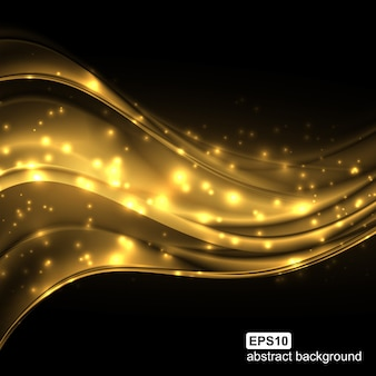 Abstrakter futuristischer lichtwellenhintergrund.