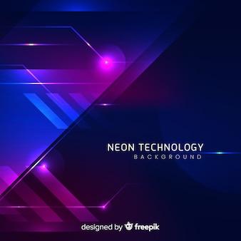 Abstrakter futuristischer neonhintergrund