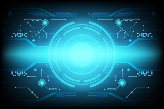 Abstrakter futuristischer schaltungstechnologie-hintergrund