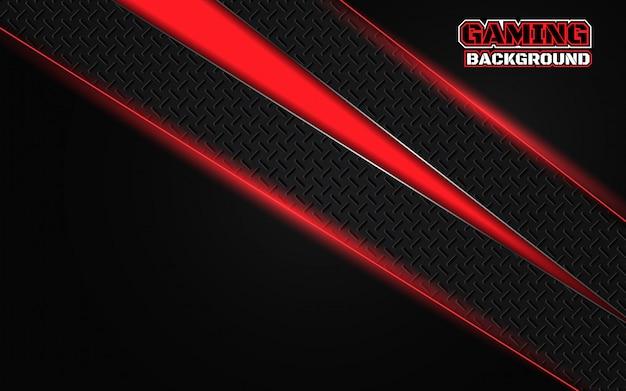 Abstrakter futuristischer schwarzer und roter spielhintergrund