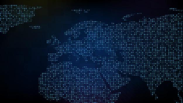 Abstrakter futuristischer technologiehintergrund der blauen digitalen eu-europakarte Premium Vektoren