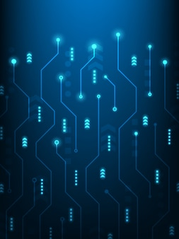 Abstrakter futuristischer technologiehintergrund