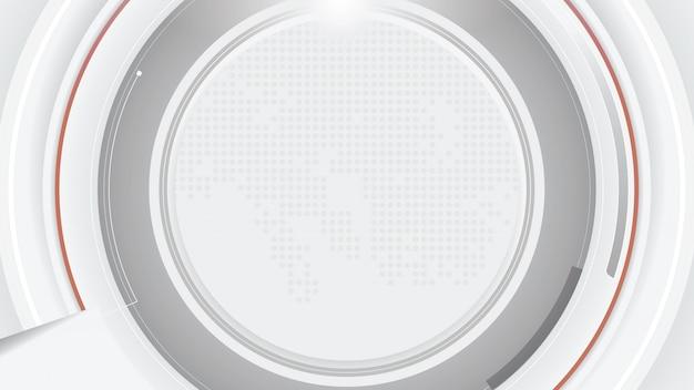 Abstrakter futuristischer weißgrauer technologiehintergrund.
