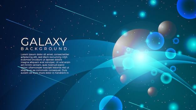 Abstrakter galaxie-hintergrund