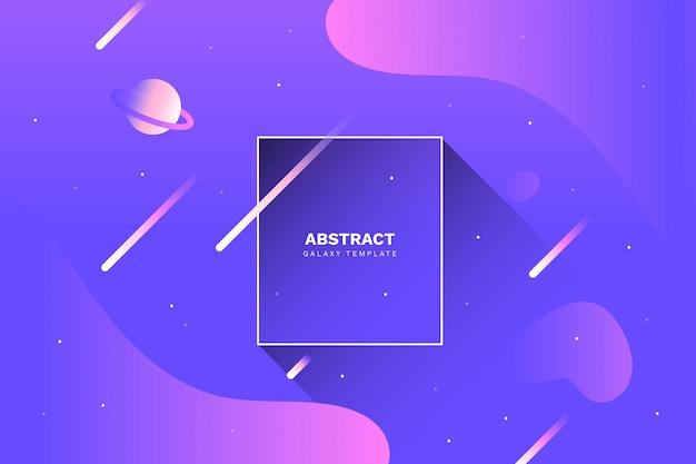 Abstrakter galaxiehintergrund mit flüssigen formen