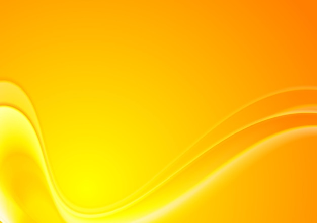 Abstrakter gelb-orangeer gewellter hintergrund. vektordesign
