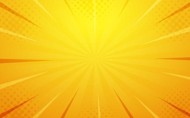 Abstrakter gelb-orangeer halbton-comic-cartoon-zoom-hintergrund