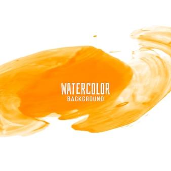Abstrakter gelber Aquarelldesignhintergrund
