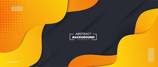 Abstrakter gelber flüssigkeitsgradientenhintergrund.
