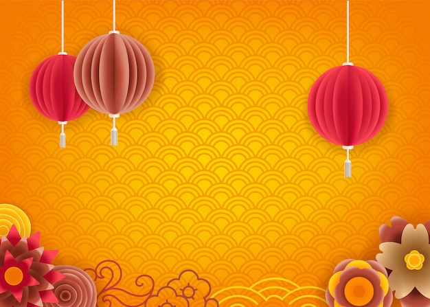 Abstrakter gelber hintergrund für chinesischen feiertag des neuen jahres