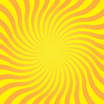 Abstrakter gelber hintergrund mit sonnenstrahl. sommervektorillustration für design