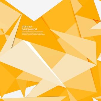 Abstrakter gelber papierhintergrund mit schatten, vektor
