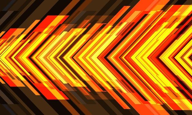 Abstrakter gelber pfeil geometrischer richtungsentwurf moderner futuristischer technologiehintergrundvektor