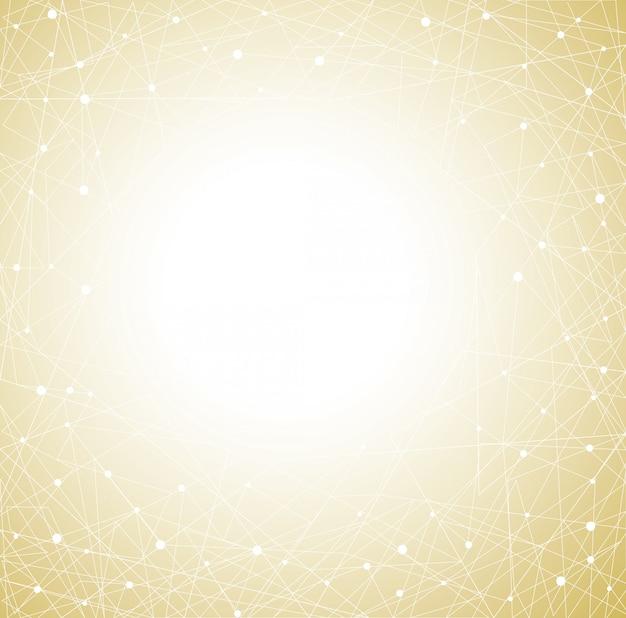 Abstrakter gelber polygonhintergrund