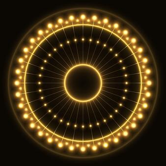 Abstrakter gelber ring