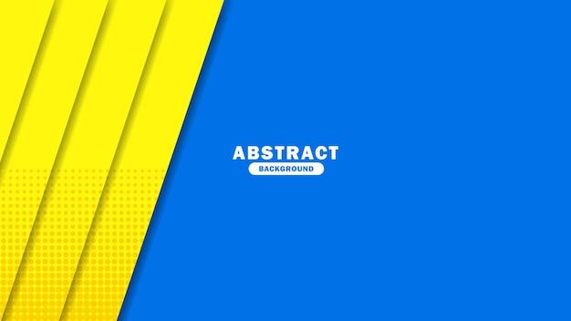 Abstrakter gelber und blauer hintergrund moderne hipster futuristische grafik blauer hintergrund mit streifen