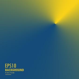 Abstrakter gelber und blauer konischer steigungshintergrund