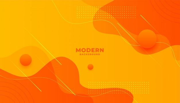 Abstrakter gelber und orange minimaler hintergrundhintergrundentwurf
